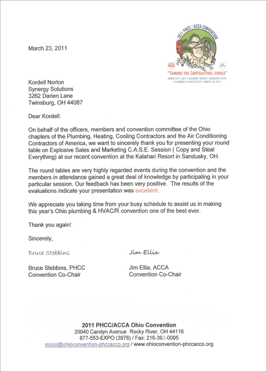Reference Letter for Kordell Norton from PHHC - ACCA Associations