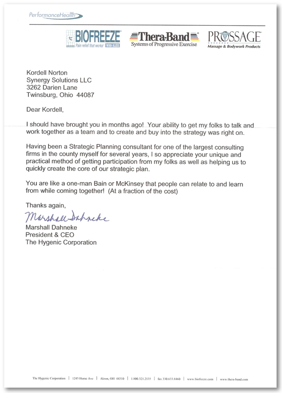 Hygenic Recomendation Letter For Kordell Norton | Kordell Norton